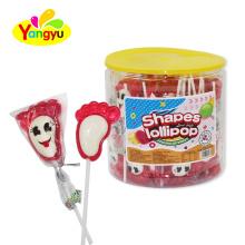 Custom Candy Foot shape  Lollipop Sweet candy