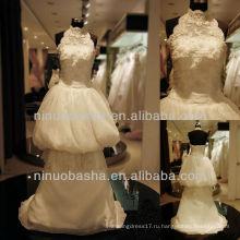 Вопрос-6246 Кружева Холтер Свадебное Платье Из Бисера Бальное Платье Свадебное Платье