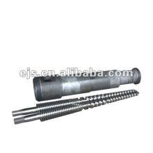 Twin Konusschraube Barrel für PVC-extruder