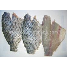 Замороженное филе тилапии (орехоцветная spp) кожа на рыбе
