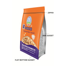 Flat Bottom Packaging with Zipper