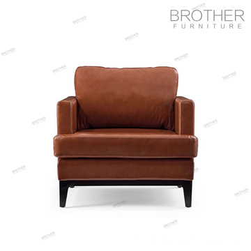 PU Living Room American chesterfield leather single seat sofa