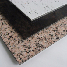 Имитация мраморной поверхности из алюминиевой композитной панели