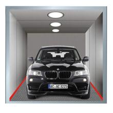 5000кг лифт для автомобилей VVVF с окрашенной стальной отделкой