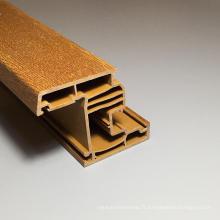 Profil Upvc couleur marron