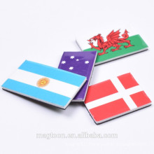 top quality personalized country flat kids promotional toy flag EVA fridge magnets for home decor
