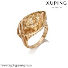 14423 оптом просто дизайн леди ювелирные изделия глаз в форме 18k позолоченный палец кольцо