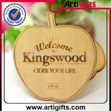 2014 Custom printed wood square cup coaster
