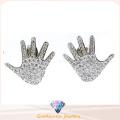 Pendiente de la forma de la mano para la señora China Wholesale Fashionjewelry Pendiente de la joyería de la plata esterlina 925 (E6504)