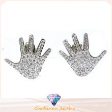 Серьга формы руки для повелительницы China Wholesale Серьга ювелирных изделий стерлингового серебра способа 9jewelry 925 (E6504)