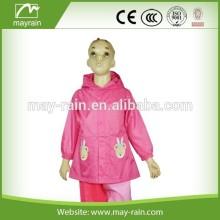 Pink Girls waterproof Jacket with print