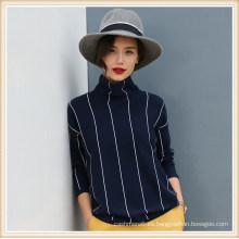 Sweater jersey de suéter de cachemira, 100% jersey de cachemira Mujeres