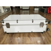 Aluminium-Ausrüstungskoffer mit Zuggriff und Rad