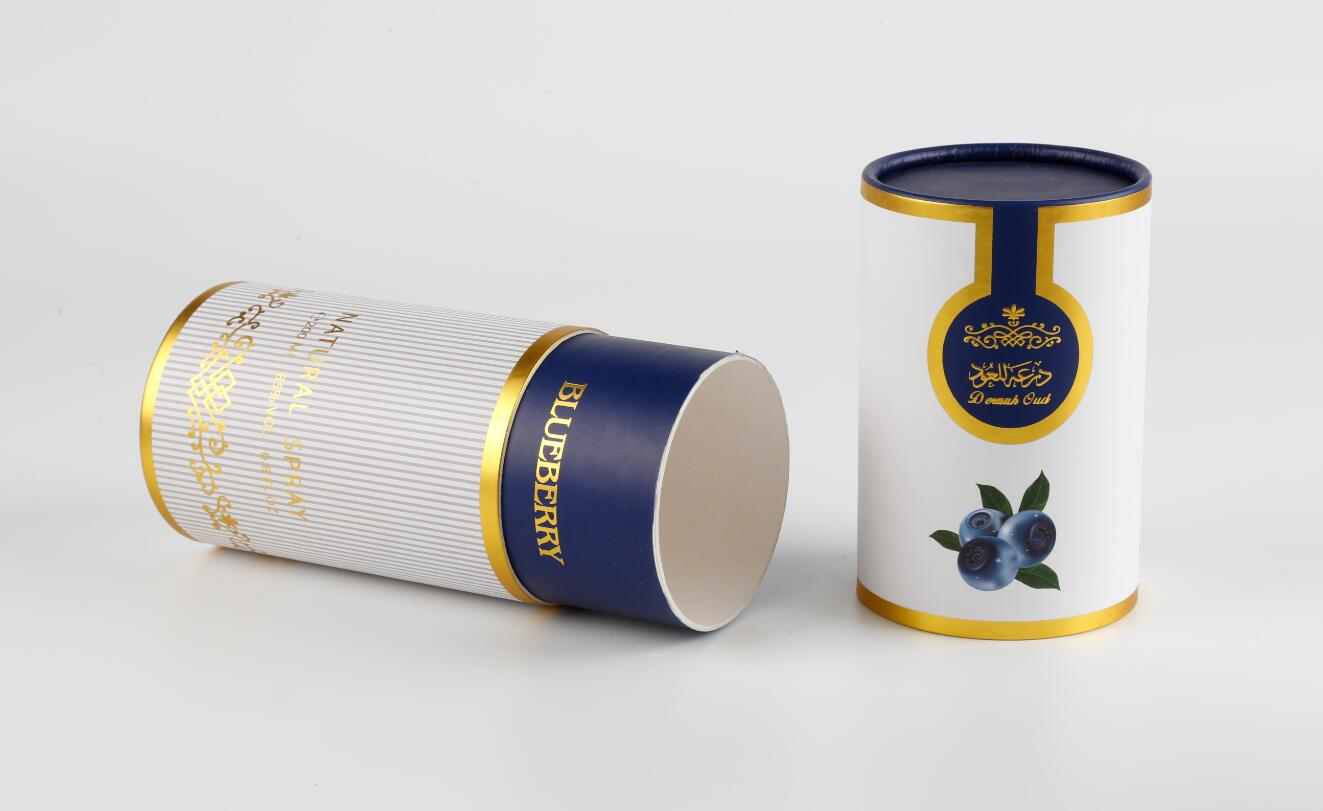 personal care products cylinder box