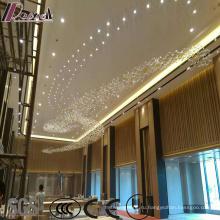 Современная роскошь Кристалл площади Pentand светильник с Projece отель