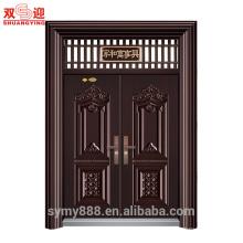 Portas da janela da frente projeto cor chapa de bronze de aço inoxidável