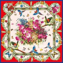 La última moda de impresión de seda bufanda