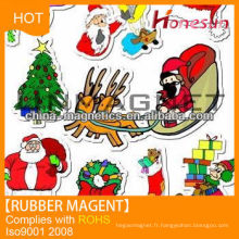 Christmas strong 3d city rubber magnets magnetic strips for sale