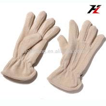 Молочные белые мягкие флисовые перчатки с пятью пальцами для езды на велосипеде