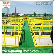 Rejilla moldeada de fibra de vidrio / GRP / FRP para la plataforma