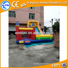PVC inflatable combo, giant inflatable dry slide water slide pool for adult