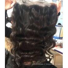 Cabelo humano original remy onda do corpo do cabelo virgem Mongolian lace frontal hair