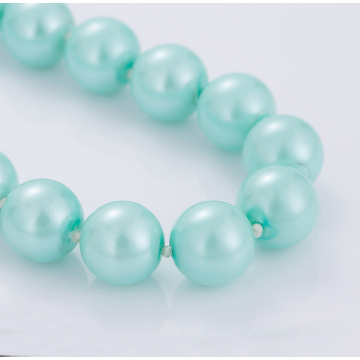 Últimos projetos Light Blue Pearl Bead Necklace