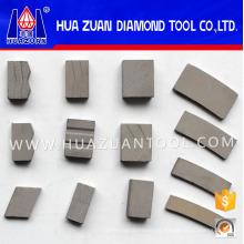 Segmentos de diferentes formas segmentos de diamante Segmento de corte de piedra para piedra caliza de mármol de granito