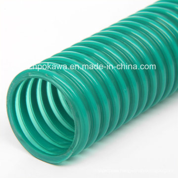Flexible PVC Spiral Hose with Green Helix