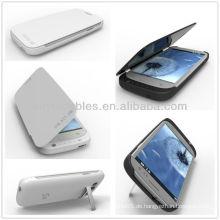 Weiß / Schwarz 3200mAh Power Case für Samsung Galaxy S3 III i9300