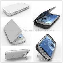 Blanc / Noir 3200mAh Power Case pour Samsung Galaxy S3 III i9300