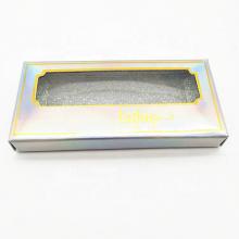 Boîte de douilles d'emballage de cils en papier laser en gros