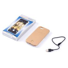 Caja del teléfono móvil para el iPhone LED luz caso Selfie Flash