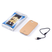 Caso de telefone celular para iPhone LED luz caso Selfie Flash Light