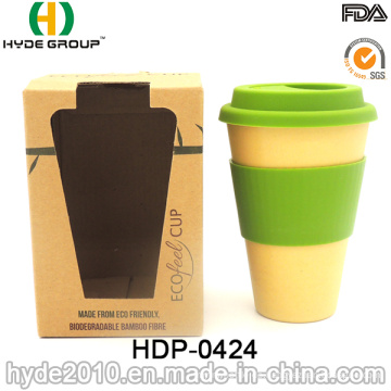 BPA frei tragbare Bambusfaser Kaffeetasse (HDP-0424)