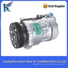 Nuevo compresor del acondicionador de aire del coche del modelo 7V16 12v PARA VW