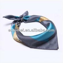 Модный реальный шелковый квадратный шарф