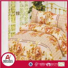 2018 exquisite printing bedding set and hotel bed sheets,cheap polyester bed sheets made in China