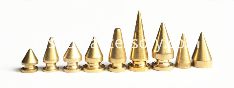 ScrewBack Spikes Solid Brass Studs