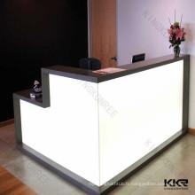 comptoir translucide à surface solide, comptoir de décoration légère