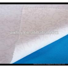 venta caliente y bajo precio llanura blanca 100% tela de lino de algodón