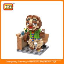 Loz idées drôle de collection de jouets en bloc, mini bloc de construction de jouet