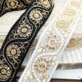 Высококачественная золотая лента с вышивкой из драгоценных камней