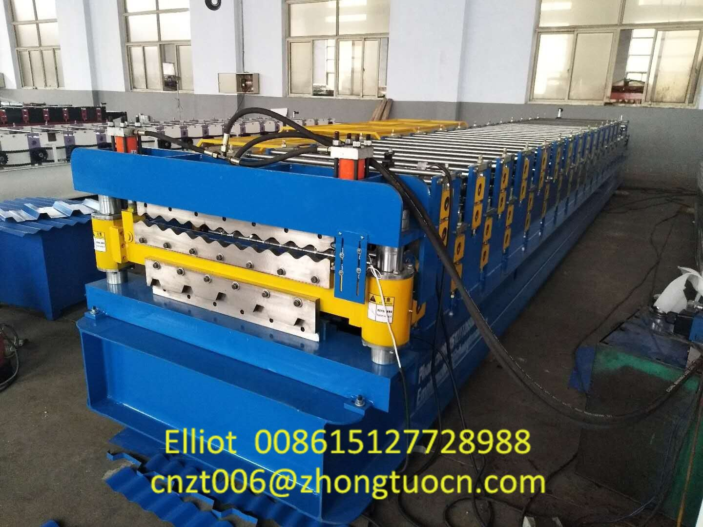 Double Layer Aluminum Roofing Sheet Roll Forming Machine Metal Tile Making Machine (3)