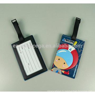 Étiquette à bagage en caoutchouc silicone haute qualité