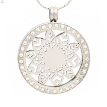 Vente chaude zircon pièce pendentif bijoux, pendentif pièce interchangeable