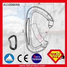 2017 Carabiner de portão dobrado de Taiwan, mais vendido, com certificado CE & UIAA