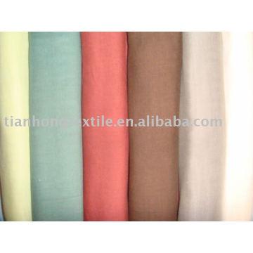 100 % coton Double couche teint robe chemise tissu chiffon