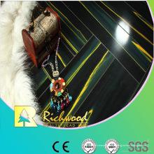 Plancher en stratifié résistant à l'eau de teck du miroir commercial 12.3mm