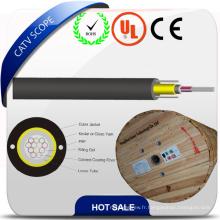 Câble optique d'intérieur de tube de lâche de membre de force centrale non-métallique